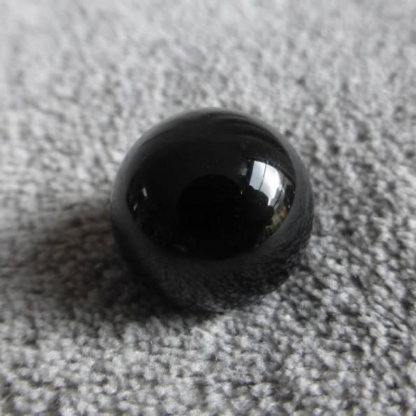 Bille Agate noir, pour bola de grossesse