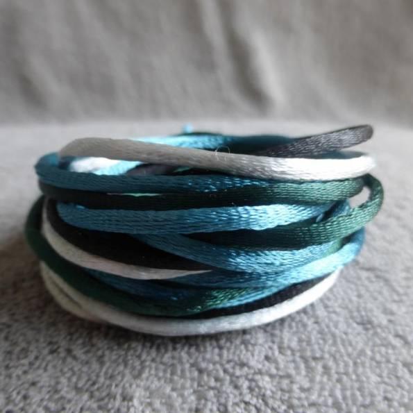 4 cordons en coton de soie, taille sautoir de grossesse