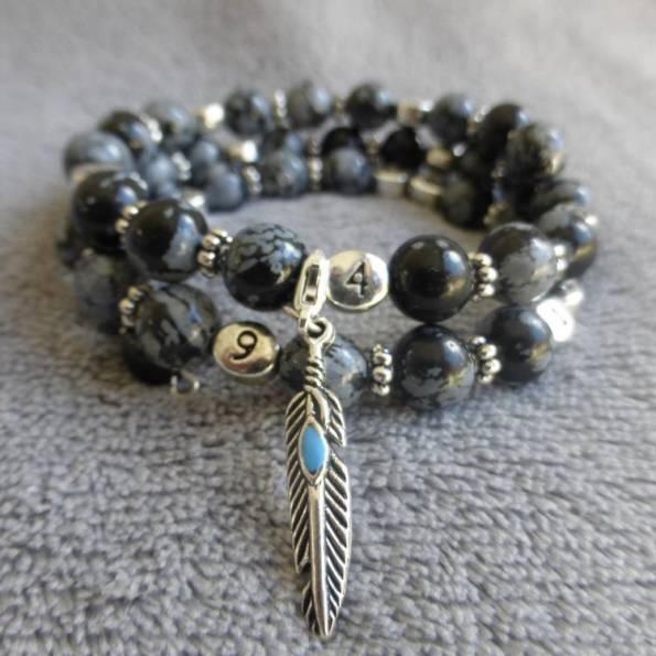 Bracelet d'allaitement obsidienne Mlathi