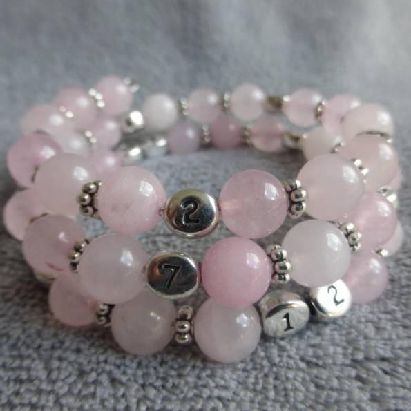 Bracelet d'allaitement quartz rose Lesmana