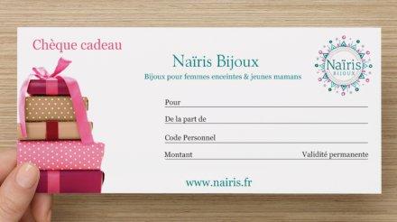 carte cadeau grossesse naissance nairis bijoux