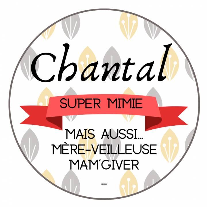 Super Mamie - Badge Famille Personnalisé