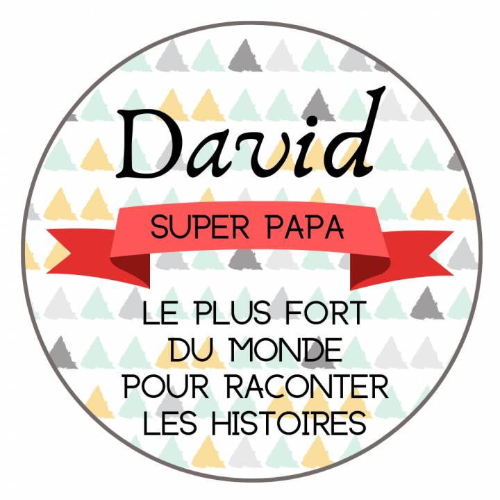 Super Papa - Badge Famille Personnalisé