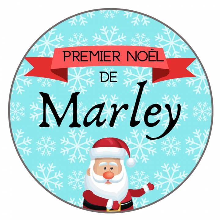 Premier Noël de - Badge Famille Personnalisé