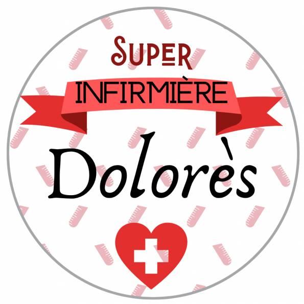 Super Infirmière - Badge Métiers Personnalisé