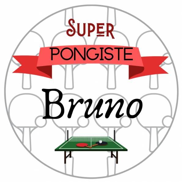 Super Pongiste Ping pong - Badge Loisirs Personnalisé