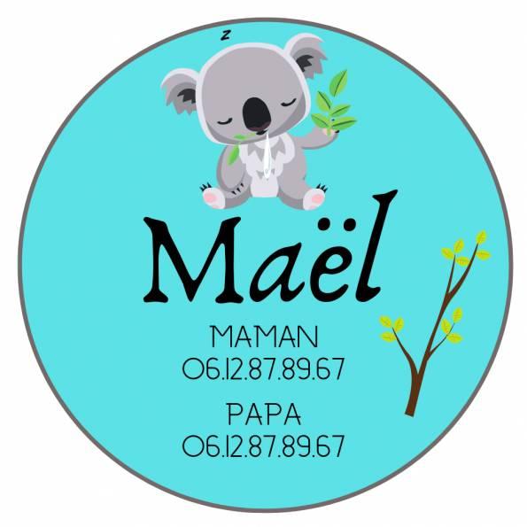 Téléphone Enfant Perdu Koala - Badge Personnalisé