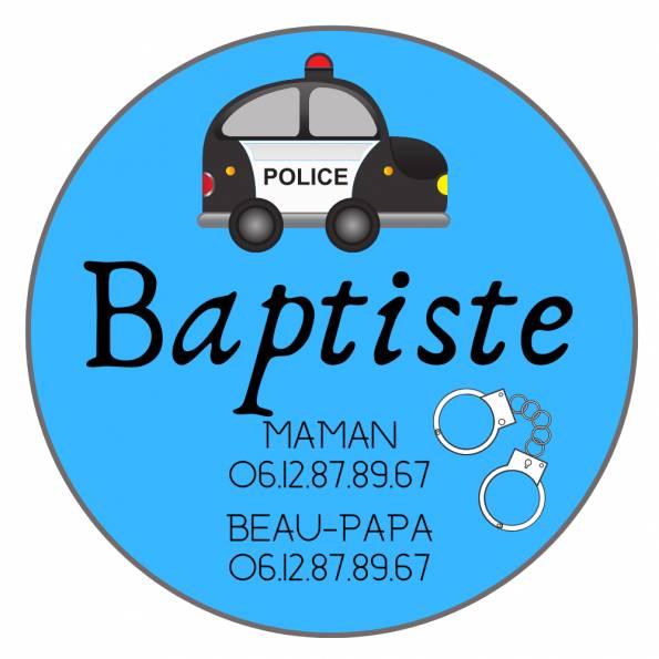 Téléphone Enfant Perdu Police - Badge Personnalisé