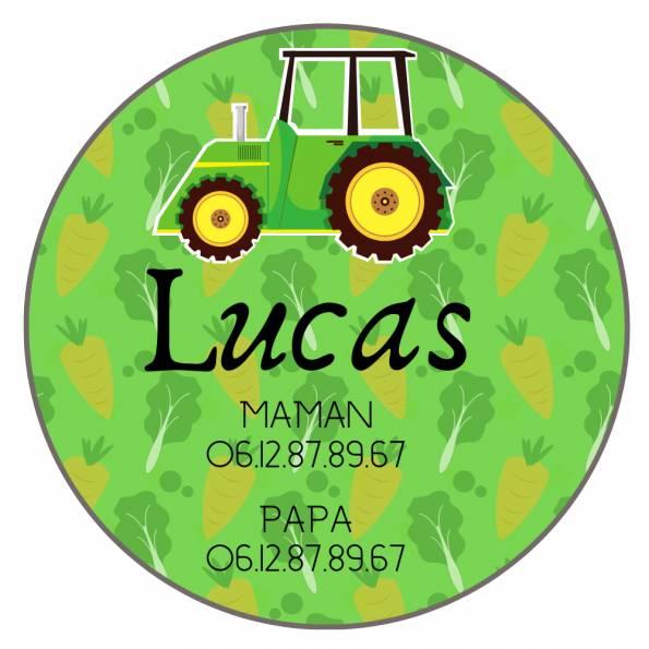 Téléphone Enfant Perdu Tracteur - Badge Personnalisé
