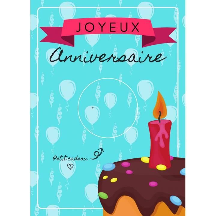 Carte Joyeux Anniversaire Pour Accrocher Votre Badge Personnalise