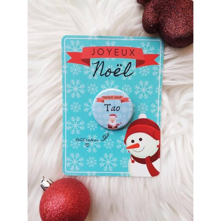Carte pour Accrocher votre Badge - Joyeux Noël