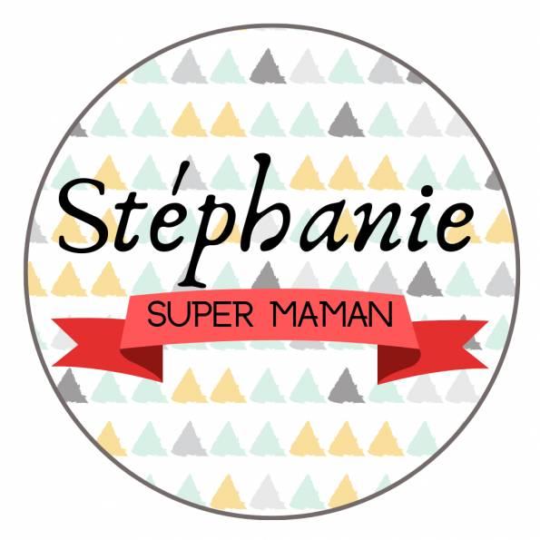 Super Maman - Badge Famille Personnalisé