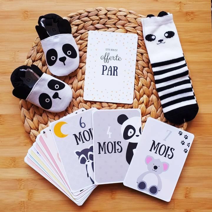 BOX Naissance Mixte - Panda noir et blanc
