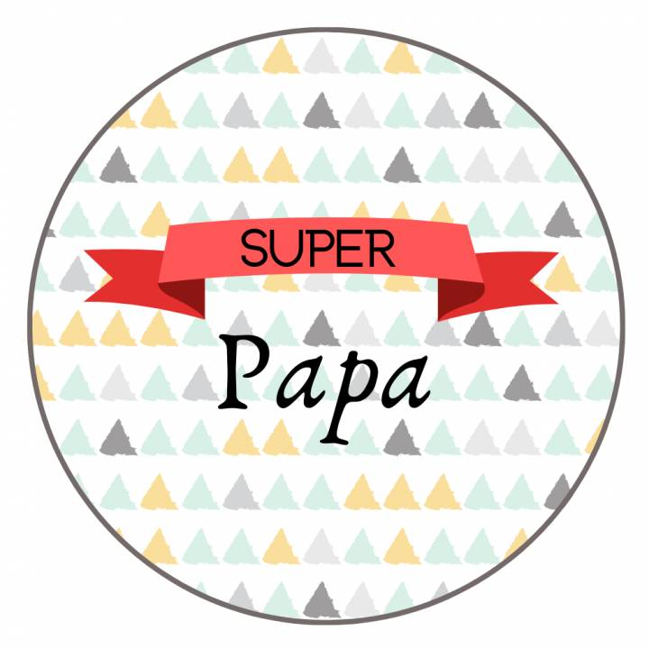 Super Papa - Badge Famille