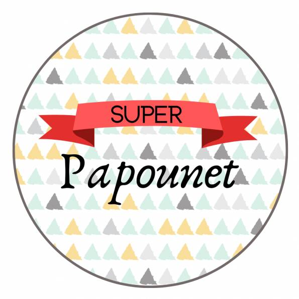 Super Papounet - Badge Famille