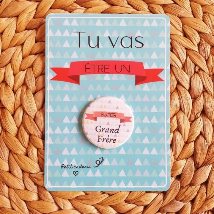 Super Grand Frère - Badge + Carte Annonce Grossesse