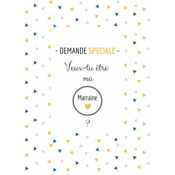Marraine - Carte Annonce Grossesse à Gratter - Bon Cadeau