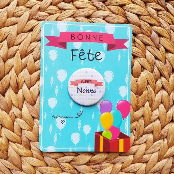 Super Nonno - Badge + Carte Bonne Fête