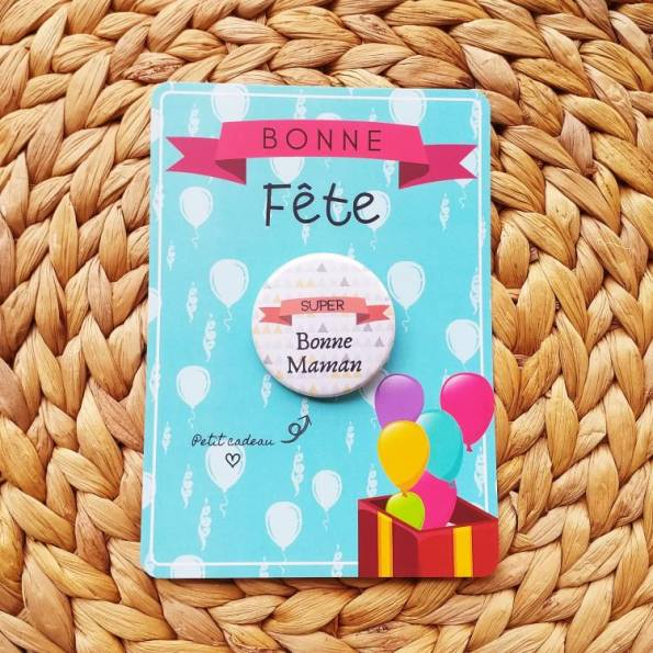 Super Bonne Maman - Badge + Carte Bonne Fête