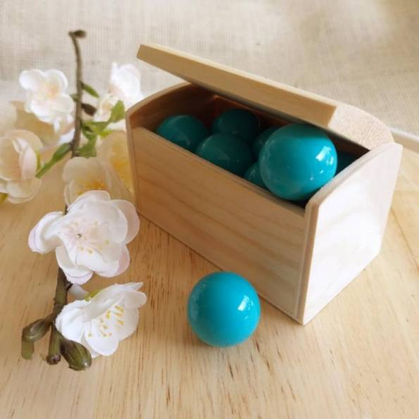 Bille bleu turquoise, pour bola de grossesse