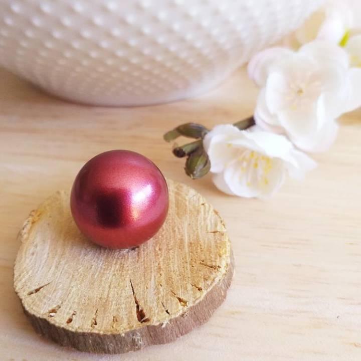 Bille rouge irisée, pour bola de grossesse