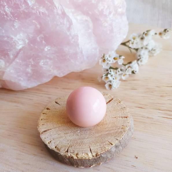 Bille rose pâle, pour bola de grossesse