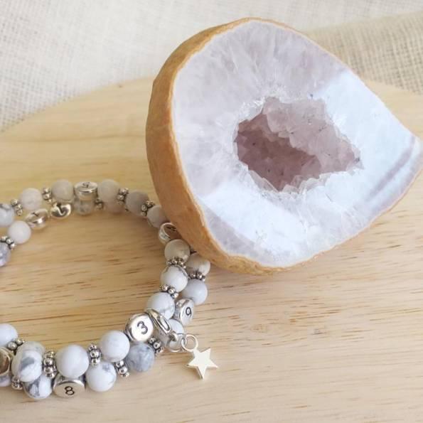 Bracelet d'allaitement Howlite Devi