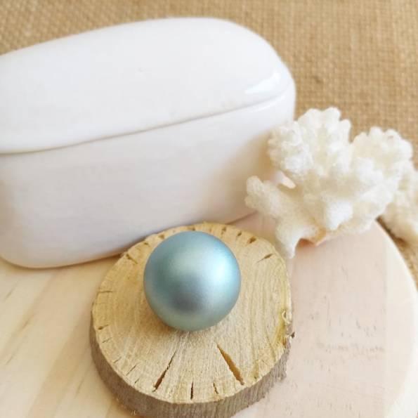 Bille bleu irisé, pour bola de grossesse