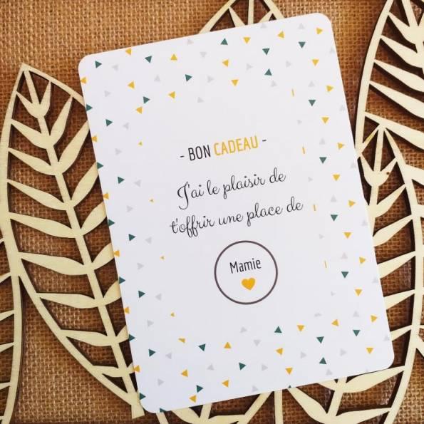 Carte Annonce Grossesse à Gratter - Mamie - Bon cadeau