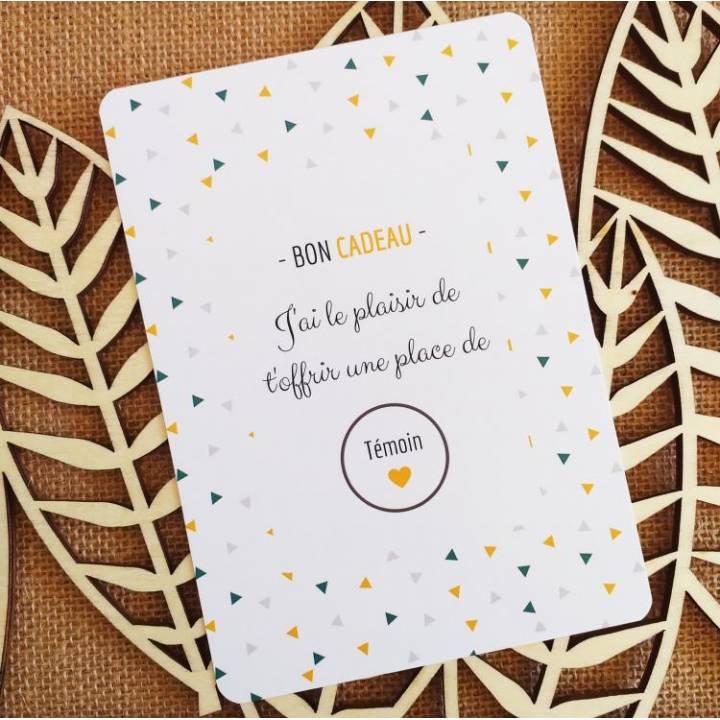 Témoin - Carte Annonce à Gratter - Bon Cadeau