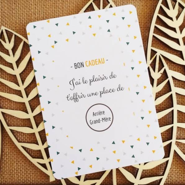 Arrière Grand-Mère - Carte Annonce Grossesse à Gratter - Bon Cadeau