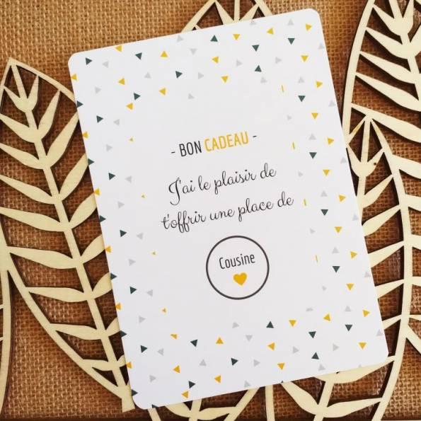 Carte Annonce Grossesse à Gratter - Cousine - Bon Cadeau