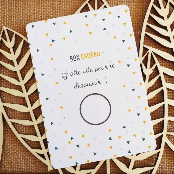 Carte à Personnaliser - Carte à Gratter Vierge - Bon Cadeau