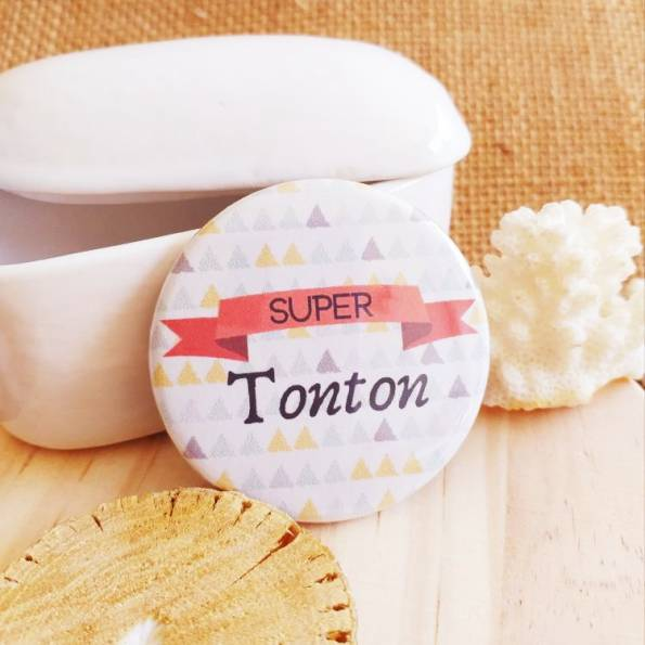 Super Tonton - Badge Famille