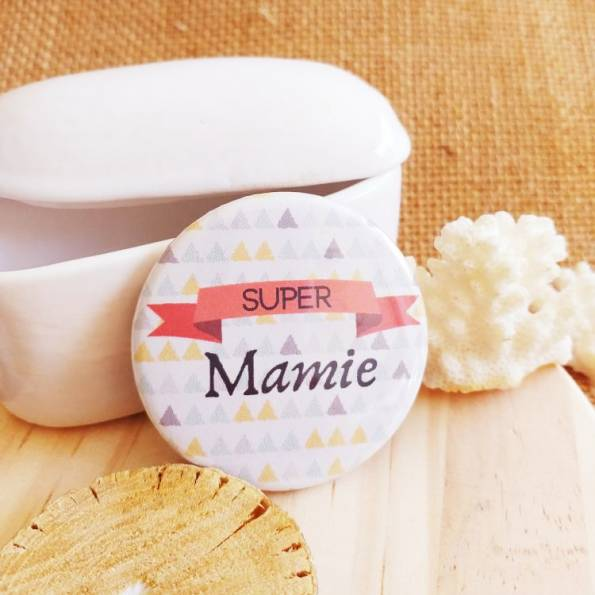 Super Mamie - Badge Famille
