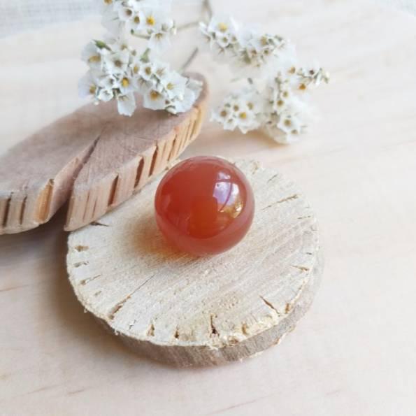 Bille Agate rouge orange, pour bola de grossesse