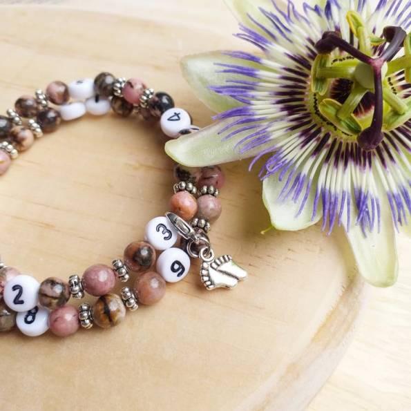 Bracelet d'allaitement Rhodonite Samnith
