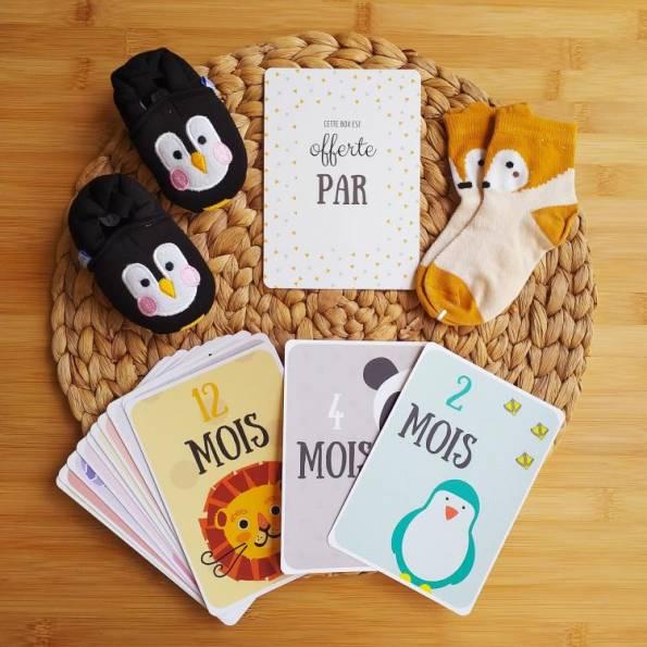 BOX Naissance Mixte - Pingouin Noir & Jaune Moutarde
