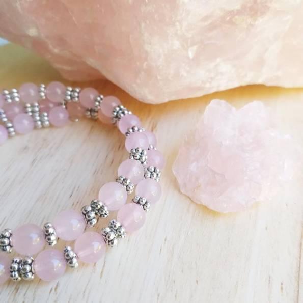 Bracelet Pierres Quartz rose Sann