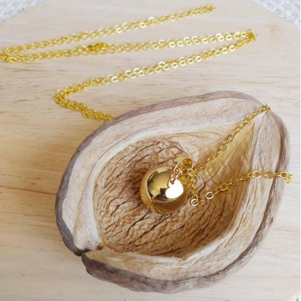 Bola de grossesse doré Thavery - Plaqué Or Jaune