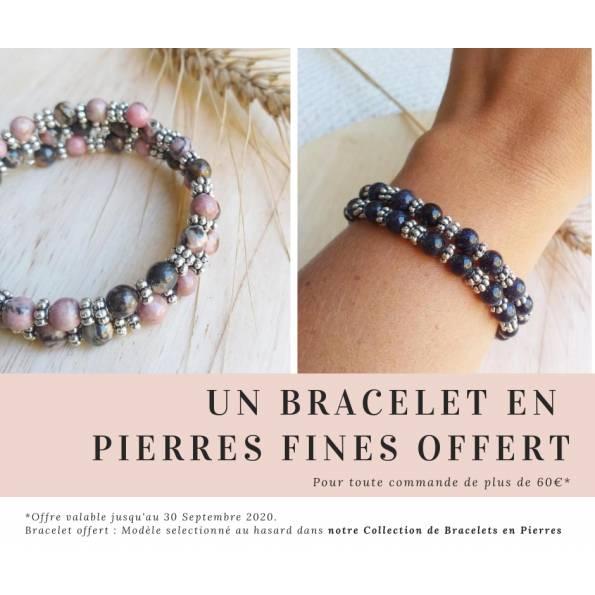 Un Bracelet en Pierres Fines Offert pour toute commande de plus de 60€