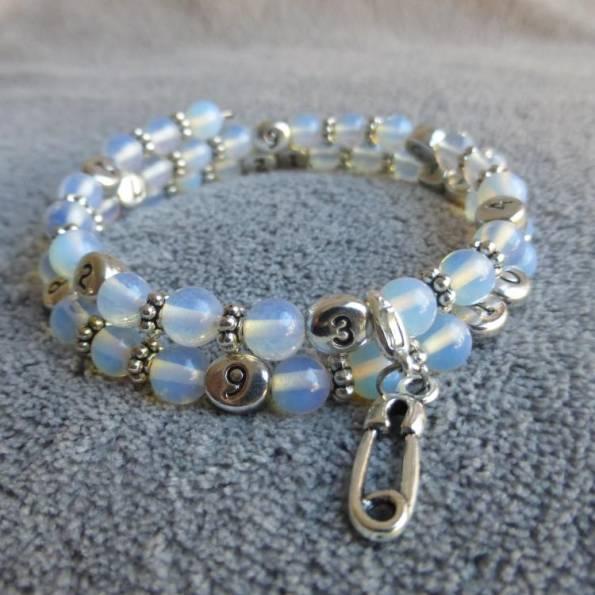 Bracelet d'allaitement pierre de lune Pertiwi