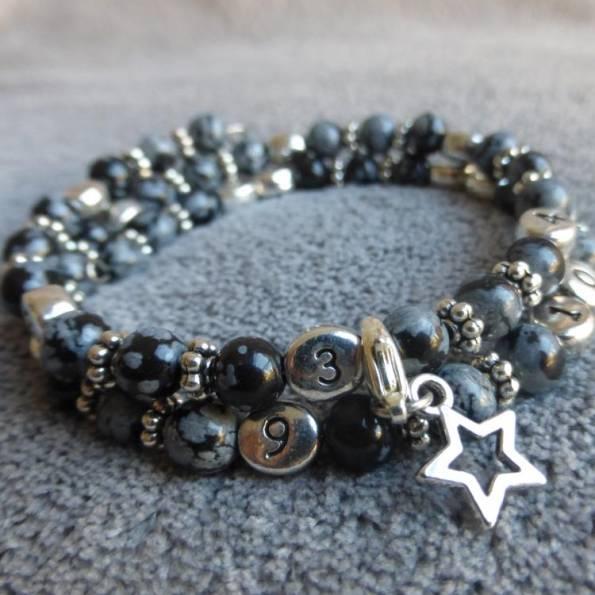 Bracelet d'allaitement obsidienne Nirmala