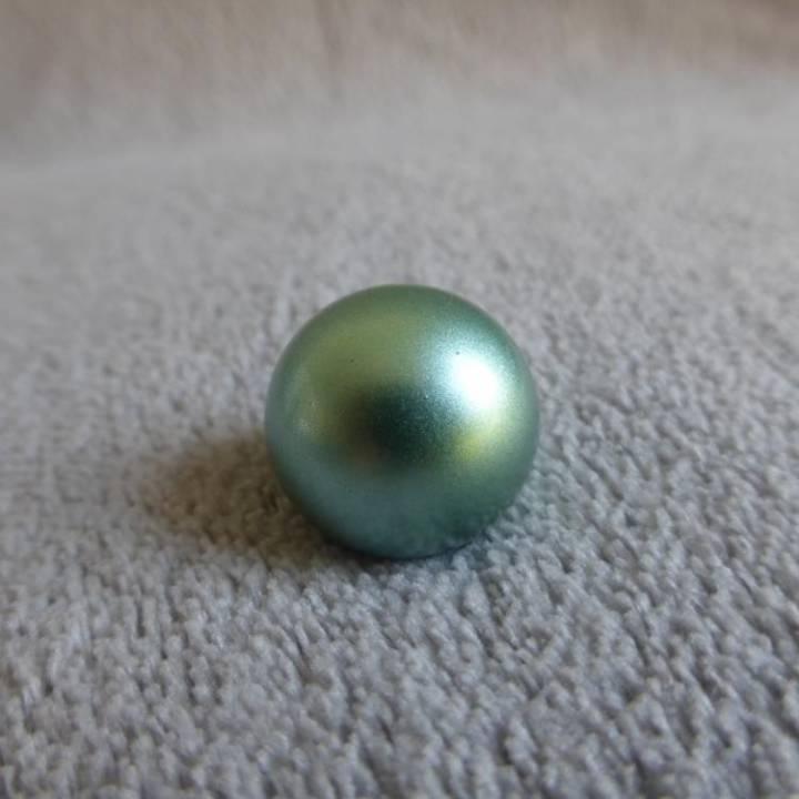 Bille vert irisé, pour bola de grossesse