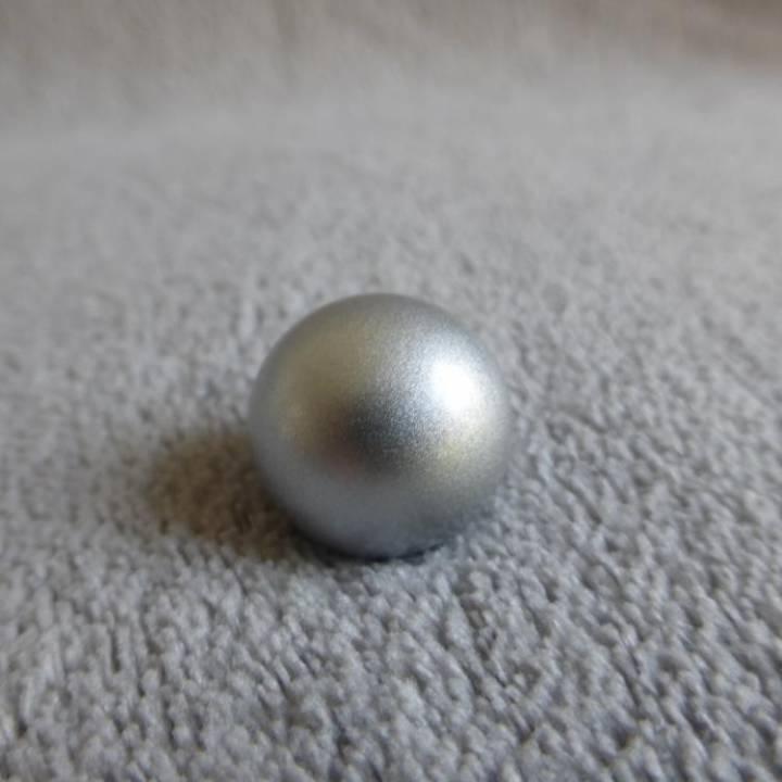 Bille argentée, pour bola de grossesse