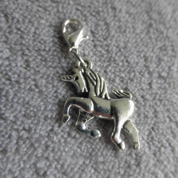 Mousqueton charms licorne - thème animaux