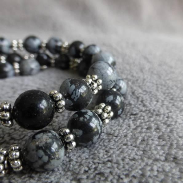 Bracelet Pierres Obsidienne Dung