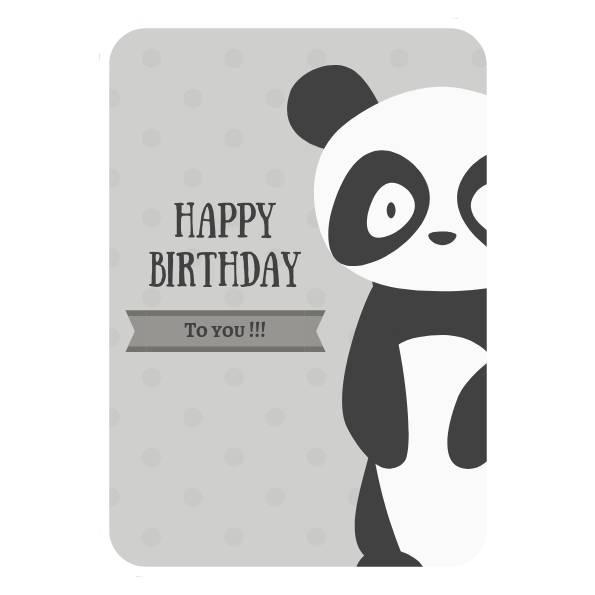 Joyeux anniversaire - Carte de Voeux