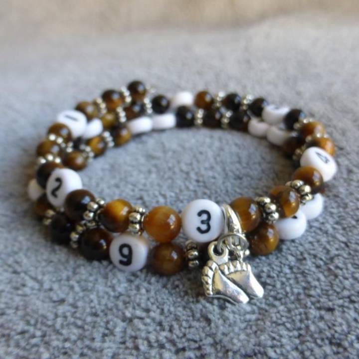 Bracelet d'allaitement oeil de tigre Chanvatey