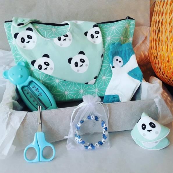 BOX Naissance Garçon - Panda - A Personnaliser